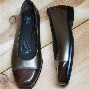 SAS Tripad Comfort Cap Toe Flats Shoes Made In US